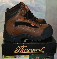 THOROGOOD WOMENS I-MET BROWN LEATHER HIKING SAFETY WORK BOOTS SHOES 504-4312 NEW