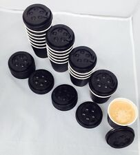 Double Wall Disposable Paper Coffee Cups and Lids 40,60 and 100 Pack