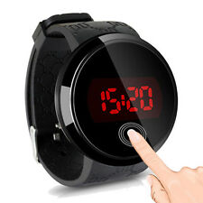 Waterproof Watch Women Men LED Touch Screen Watch Silicone Digital WristWatch