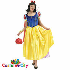 Official Deluxe Snow White Adult's Women's Fancy Dress Party Costume PA