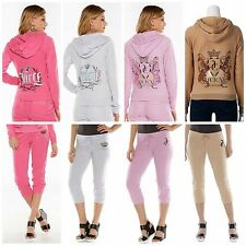 NWT Authentic Juicy Couture  Women's Terry Hoodie  Capris Tracksuits