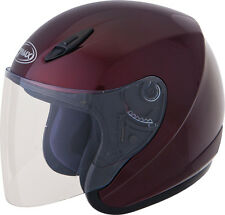 GMAX GM17 Open-Face Motorcycle Helmet (Wine Red) Choose Size