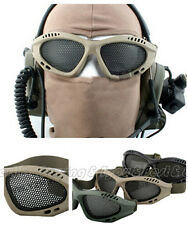 Paintball Tactical Airsoft Anti Fog Metal Mesh Goggles Safety Glasses IC9