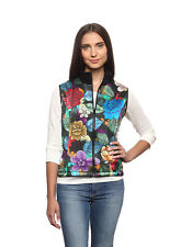 Women's 100% Silk Vest Multicolor Floral Hand Painted - Suzy Invisible World