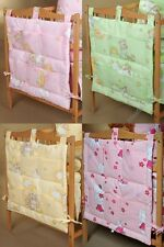 New Baby Cot Tidy / organizer 6 Pockets for Nursery Cot / Bedding