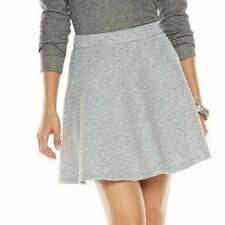 LC LAUREN CONRAD GRAY QUILTED CIRCLE SKIRT SIZE XL;NWT