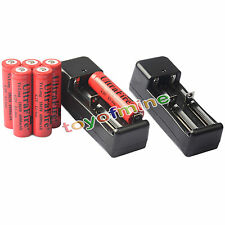 6x 3.7V 18650 Li-ion 6000mAh Rechargeable Battery +2x 18650 Charger