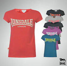 Ladies Lonsdale Casual Sporty T Shirt Lightweight Top Size 8 10 12 14 16 18 20