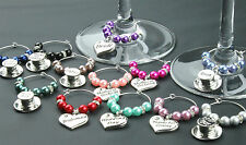 Wine Glass Charms Wedding Table Decorations Favours - Black - DIY