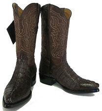 Men's Genuine Crocodile Alligator Exotic Tail Cowboy Western Boots J Toe Brown