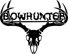 Whitetail Buck Skull Antlers - Arrow Bow Hunt Deer Hunting window decal sticker