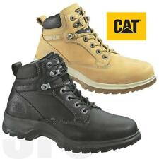 Womens Caterpillar Leather Safety Work Boots CAT Lightweight Comfort Steel Toe