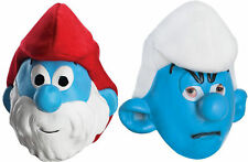Adult TV The Smurfs Papa Smurf & Grouchy Costume Mask