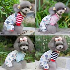 Small Pet Dog Stripes Bear Pajamas Coat Puppy Cozy Clothes Apparel Clothing A21