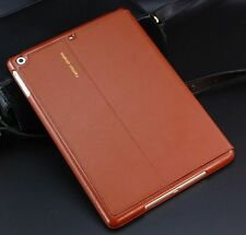 Luxury Genuine Leather Case Smart Auto Sleep Cover For iPad 2 3 4/ mini/ Air New