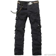 NEW MENS  TACTICAL OVERALLS CASUAL PANTS MILITARY POCKET CARGO COMBAT TROUSERS