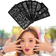 Large Image Nail Art Stamping Plate Stamp Plates Template Manicure Tool R2