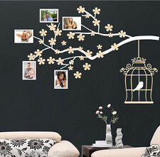 Photo Frame Tree Branch Wall Sticker Bird Cage  Wall Quote Wall Art Decal /  S67