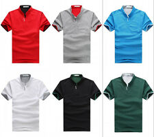 New Fashion Mens Casual Shirts Slim Fit Stylish Polo T-Shirts Short Sleeve Tops