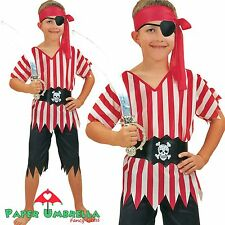 PIRATE BOY Fancy Dress Costume Childrens outfit Caribbean Age 3 4 5 6 7 8 9 10