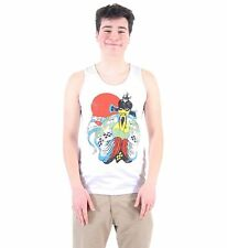 Men's White Action Movie Big Trouble in Little China Fu Manchu Cotton Tank Top