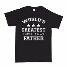 Worlds Greatest Farter Father T Shirt - Father's Day Present Gift For Dad