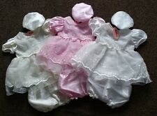 Baby Girls Christening Bridesmaid Party Satin Wedding Pageant Dress Hat Knickers