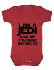 """Baby Play suit """"I am a JEDI like my father before me..."""" Star Wars , Baby Grow"""