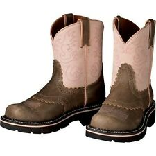 ARIAT FATBABY COWGIRL BOOTS Girl's YOUTH Brown Pink Leather 10001995 32629Y NEW
