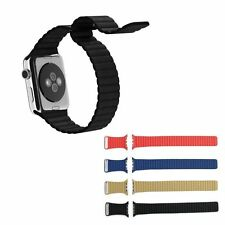 Pelle Orologio Cinturino Loop Band Fibbia magnetica Per Apple Watch 38mm 42mm