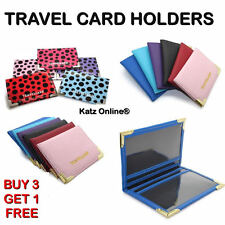 Katz Oyster Card Holder Travel Cover Rail Bus Pass Wallet Credit Bank Card B3