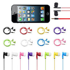 3.5mm In-Ear Flat Noodle Earbuds Earphone Headset Headphone for iPhone SAMSUNG