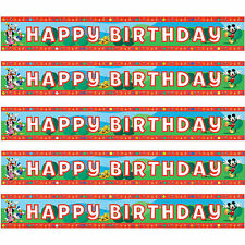 Mickey Mouse Playful Party Foil Happy Birthday Banner 1 - 5pk