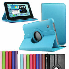 "Leather 360° Rotation Stand Case Cover Samsung Galaxy Tab 2 7"" inch P3100 P3110"