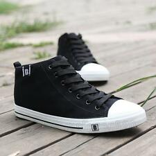 New fashion Mens casual denim canvas flat lace up high top casual sneaker shoes