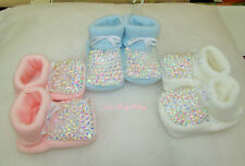 Romany Baby Bling Ab Rhinestone Bootees Booties Shoes Perfect Gift - 4 Colours