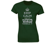 """Keep Calm And Let """"Your Name"""" Handle It Silver Edition Personalised Womens Funny"""