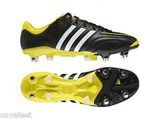 MENS ADIDAS ADIPURE 11PRO XTRX SOFT GROUND FOOTBALL SOCCER RUGBY BOOTS BLACK
