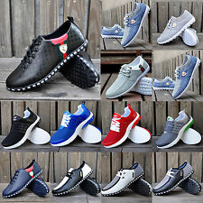 RUNNING TRAINERS MENS CASUAL BREATHABLE RECREATIONAL SKATE SNEAKERS SPORTS SHOES