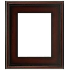 """CLASSIC MODERN STYLE PICTURE PAINT FRAME PLEIN AIR WOOD BROWN LEAF 3"""" WIDE"""