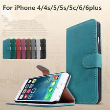 Retro Luxury PU Leather Wallet Stand Card Pocket Phone Case Cover For iPhone