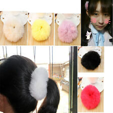 Imitate Rabbit Fur Hair Band Hair Bobble Hair Accessories Fluffy Mixed