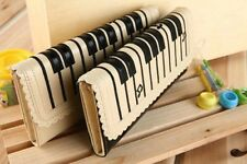Fashion  Womens Bifold Leather Purse Clutch Long Wallet Piano Keboard Style