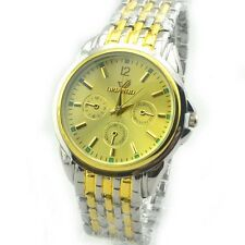 Fashion Mens Stainless Steel Watches Luxury Round Dial Analog Quartz Wrist Watch