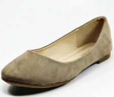 NEW Women Casual Suede Ballet Flat Shoes Size 6 - 10, (Taupe Color)