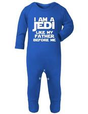 """Baby Romper """"I am a JEDI, like my Father before me""""  Star Wars, Jedi Baby suit"""