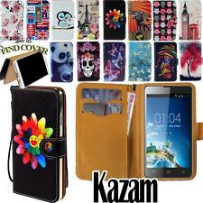 Flip Card Wallet Stand Leather Cover Case For Various Kazam Trooper Smartphone