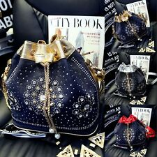 Luxury Crystal Shoulder Bag women Drawstring chain Messenger Handbag Bag Bucket