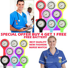 BRAND NEW SILICONE NURSES BROOCH TUNIC FOB NEW WATCH +FREE BATTERY UK SELLER