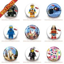 18-90PCS Super Heroes Buttons pins badges,30MM,Round Brooch Badges,Party Supply